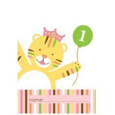 Sweet@1 Girls 1st Birthday Party Invites