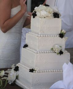 Square Wedding Cake By Cristacake on CakeCentral.com