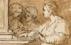 Luca GIORDANO, Sainte Cécile à l'orgue entourée d'anges (détail)