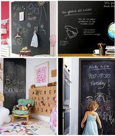 Tableau noir ardoise / tableau blanc mural par verryberrysticker