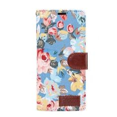 Women's Luxury Flip Flower Case For Samsung Galaxy Note 8 Blue Samsung Galaxy Note 8/ Note8 cases products shops store buy for sale  website online shopping free shipping accessories  phone covers beautiful gifts AuhaShop.com