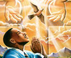 religious american art | Black Love Art - The Power Of Prayer - Lester Kern