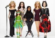 Shero Barbie dolls Trisha Yearwood, Sydney 'Mayhem' Keiser, Emmy Rossum, Ava DuVernay, Kristin Chenoweth and Eva Chen. Photograph: Mattel