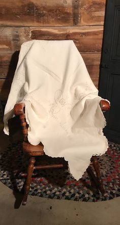 Excited to share the latest addition to my #etsy shop: Antique Tablecloth * French Linens * Cottage Style * French Kitchen * Table Linens * Vintage Tablecloth * Cut Work * Scalloped Edge #housewares #white #housewarming #rectangle #cotton #mothersday #vintagetablecloth #antiquetablecloth #cutworktablecloth