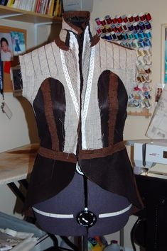 Progress photos of Vogue 8601.  Her tailoring skills are immaculate!