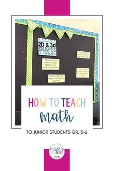 How to teach Math to junior students, grade 3-6. Geometric Properties, 2d And 3d Shapes, Number Sense, Grade 3, Teaching Math, Problem Solving, Triangle, Students, Learning