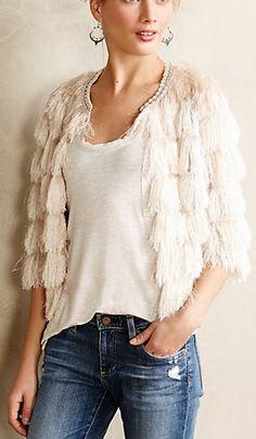 Winter fringe jacket
