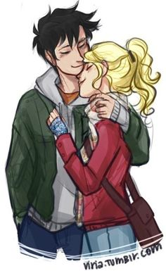 Percabeth cute hug