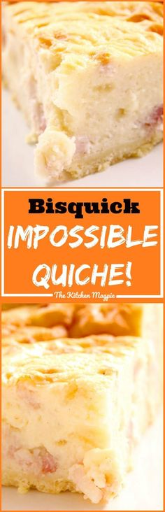 The Bisquick Impossible Quiche Recipe - classic makes-its-own-crust quiche that our moms used to make! From @kitchenmagpie