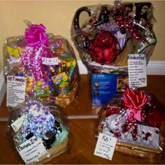More basket ideas for carnivals and fundraisers. So fun an easy to assemble.
