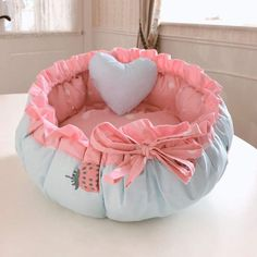 Kawaii Princess Ruffle Pet Bed – The Kawaii Shoppu Pet Beds, Dog Bed, Cuddle Bed, Baby Shower Decorations For Boys, Princess Style, Cushions, Pillows, Gifts For Pet Lovers, Online Gifts