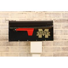 HensonMetalWorks NCAA Curbside Wall Mounted Mailbox NCAA Team: Mississippi State University