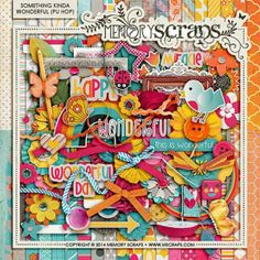 Tammy Tags Blog Train Post - May 2014, MScraps, Something Kind of Wonderful - Personal Use.  Lots of great digital scrapbooking freebies!