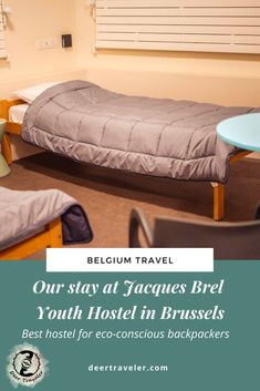 Our stay at the Jacques Brel Youth Hostel – Best hostel in Brussels for eco-conscious backpackers | Eco-friendly accommodation in Brussels | Sustainable and budget-friendly hostel in Brussels |   #hostel #ecohostel #sustainabletravel #ecotravel #backpacking #brussels #belgium #europe #brusselshostel #travel #travelblog European Travel Tips, Europe Travel Guide, Budget Travel, Travel Guides, Travel Destinations, Belgium Europe, Travel Belgium, Responsible Travel, Sustainable Tourism