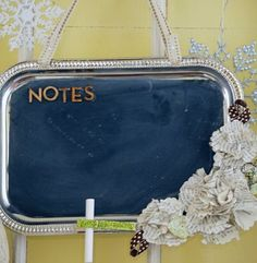 Make a Silver Tray Chalkboard