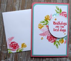 A gorgeous feminine. floral card using the Beautiful Friendship stamp set by Stampin' Up! Creative Birthday Cards, Homemade Birthday Cards, Creative Cards, Friendship Flowers, Friendship Cards, Scrapbook Cards, Scrapbooking, Stamping Up Cards, Card Sketches