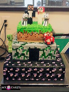 Minecraft wedding cake...holy schnikies these people rock...get it? Hahhaha!!  But seriously: they rock.