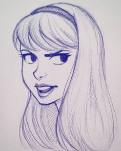 Head doodle on my lunch break. #doodle #sketch #art #drawing #illustration #cameronmarkart