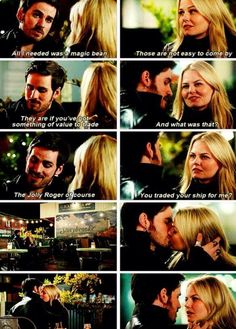Once Upon A Time 3x22 (best scene ever) #CaptainSwaw #Hook and #Emma