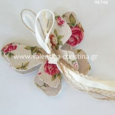 Μπομπονιέρα βάπτισης πεταλούδα floral Girl Christening, Butterfly, Bows, Weddings, Arches, Bowties, Girl Baptism, Wedding, Butterflies