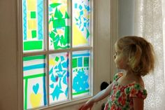 Beautiful stained glass sun catcher based on Amish quilts! [from The Artful Parent]