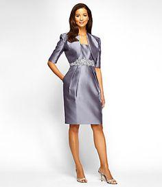 Alex Evenings Taffeta Bolero Jacket Dress | Dillard's Mobile