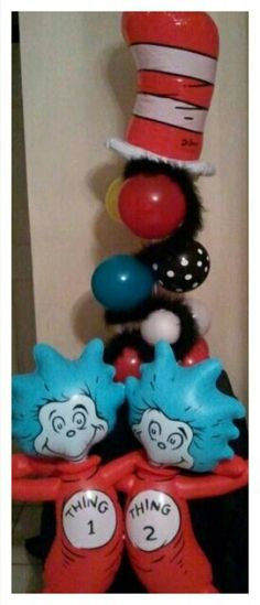 Dr. Seuss balloon decorations