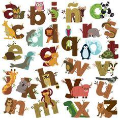 vinilos-de-pared-abecedarios-animales-letras.jpg (600×600)