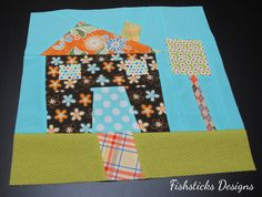 The Wonky House Quilt Block Tutorial | Fishsticks Designs Blog