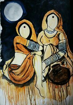 Saheli 2 traditional beauty series Art by Mrinal Dutt please do like my official page on art https://www.facebook.com/artmrinaldutt/