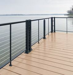 Cable deck railing systems at lowes deck railing with stainless cable wire railing deck - Vinyl deck railing lowes ...