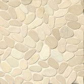 Found it at Wayfair - Hemisphere Random Sized Sliced Pebble Stone Mosaic Tile in Bali White