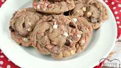 Hot Cocoa Cookies are full of hot cocoa mix, chocolate chips, crushed candy canes and marshmallow bits all baked into one delicious cookie! These hot chocolate cookies are simple to make and taste just like your favorite cup of hot cocoa! Zucchini Bread Recipes, Quick Bread Recipes, Best Cookie Recipes, Cake Recipes, Muffin Recipes, Breakfast Recipes, Dessert Recipes, Hot Chocolate Cookies, Cocoa Cookies