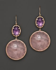 Ippolita Rosé Sugar Kissed Amethyst and Rose Quartz Drop Earrings