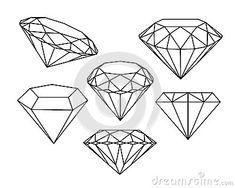 Grupo de ícones dos diamantes