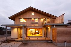 A two-story home built entirely of wood