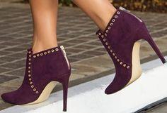 Purple Ankle Booties