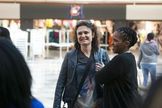 IDAHOT 2013, Johannesburg. Virginia, a passionate LGBTI activist, waiting for the flashmob to start.