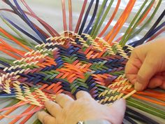 Start of a Twill Basket at Sievers with instructor, Jeanette Biederman. www.sieversschool.com