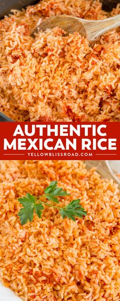 The BEST Authentic Mexican Rice that is so good and so easy, it will become THE side dish to make with all of your Mexican dishes. Perfect for Cinco de Mayo. via @yellowblissroad