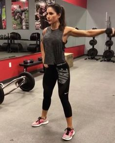 """8,055 Likes, 158 Comments - Fit Healthy Workouts (@fithealthyworkouts) on Instagram: """"Dumbbell Dynamite! By @alexia_clark 1. 10 reps each arm  2. 15 reps each  3. 10 each arm  4. 20…"""""""