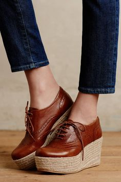 KMB Lenzie Platform Oxfords - anthropologie.com