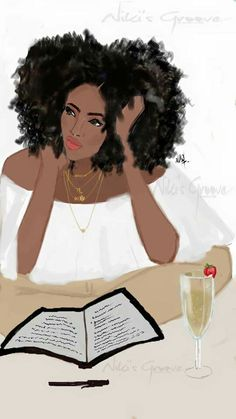 Champagne x book x afro = Good Night ~ Niki's Groove