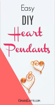 Easy to make heart pendants! Make your own jewelry. A great gift! Step by step photo instructions for this DIY project you can do in an afternoon. #jewelrymaking #jewelry #DIY #craft #crafting #giftsforher #gifts #giftguide #fashion #fashionjewelry