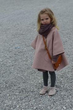 Girls Pink Coat  Flower Sneakers  Scarf