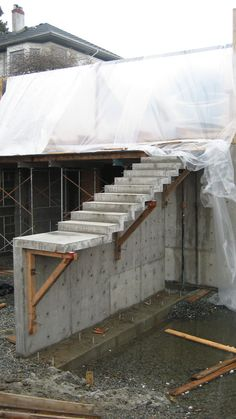 cantilevered-concrete-stair *I'll draw what's in my mind. It's not as luxurious as you think. Simple & functional.