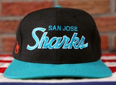 VINTAGE - RETRO - CLASSIC    FOR THE SPORTING LIFE by SonnyBuffalo. San  Jose SharksSnapback ... 6b20f9d47393