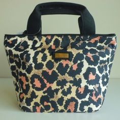 "4a35b26b76e0 Jim Thompson ""Elwood Bag""- Luxury HandBag style Leopard Coral and Black  Small Handbags"