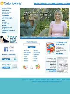CalorieKing. The site provides the nutritional facts for thousands of foodstuff