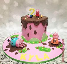 50 Three Little Pigs Cake Design (Cake Idea) - March 2020 Girls 2nd Birthday Cake, Peppa Pig Birthday Cake, Peppa Pig Cakes, Birthday Ideas, 4th Birthday, Cake Designs For Kids, Cake Designs Images, Cumple Peppa Pig, Little Pony Cake
